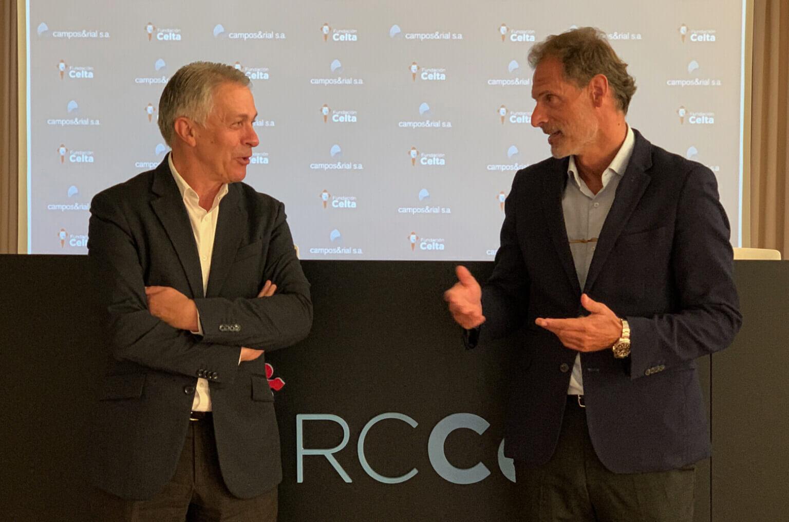 firmando el convenio colaborador Fundación Celta y Campos y Rial